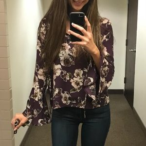 Floral long sleeve with bell sleeves
